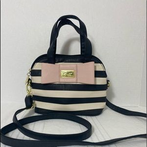 Luv Betsy Striped w/ Pink Bow Crossbody